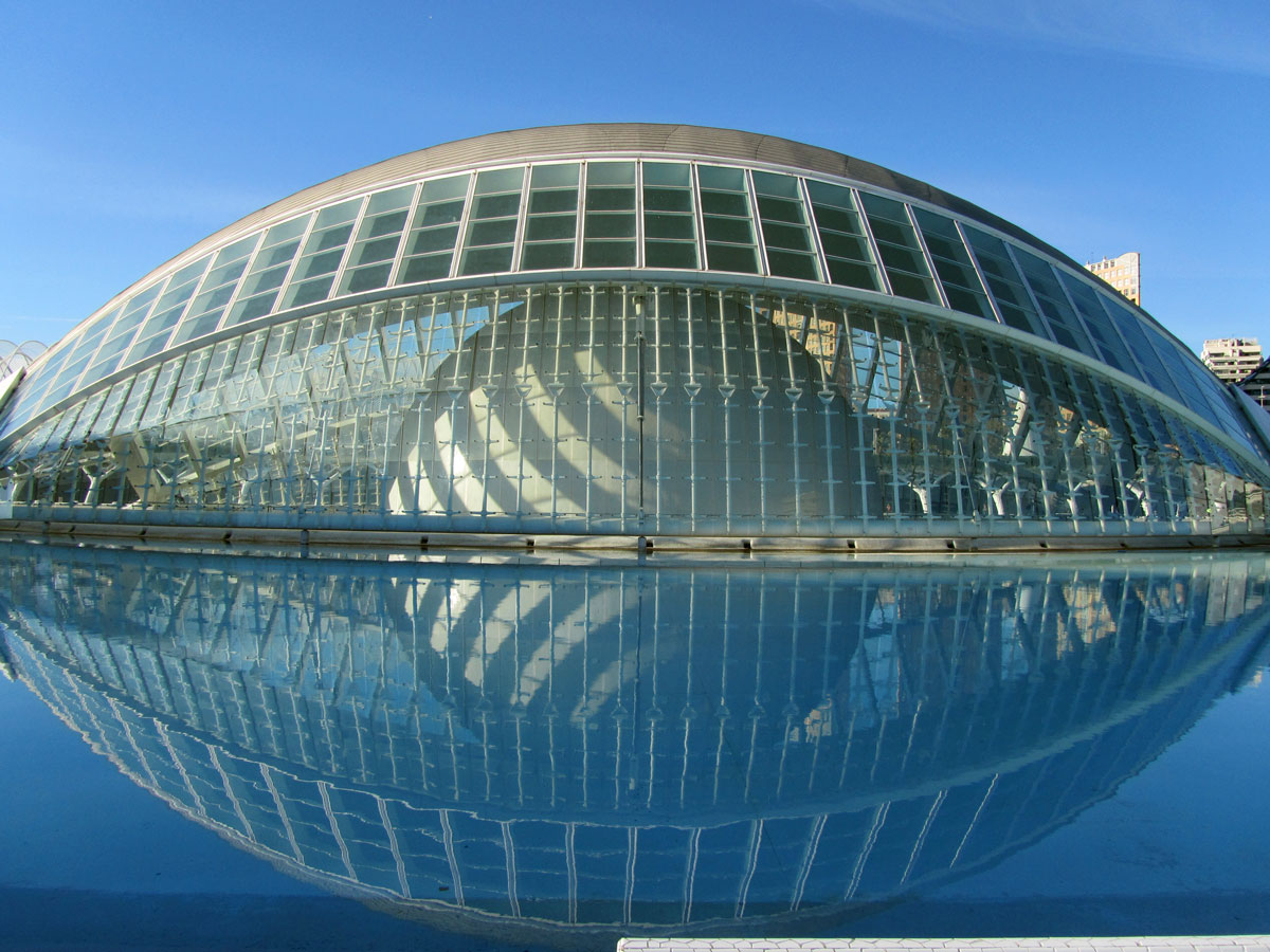 Modern Lake House Valencia Spain City Of Arts And Science