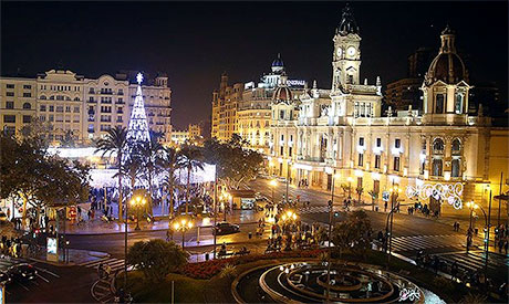 Valencia Christmas tree